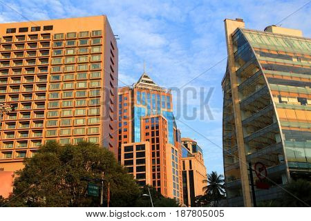 Modern buildings in Bangalore downtown