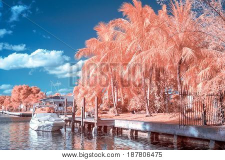 Fort Lauderdale Intracoastal In Infrared