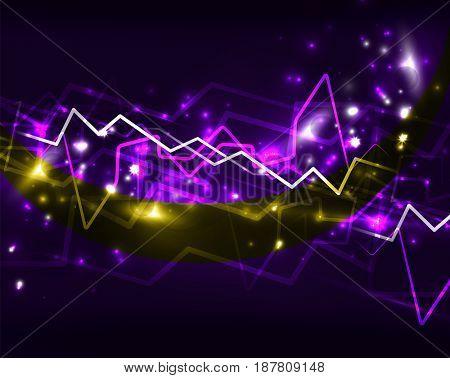 Neon lightning background template