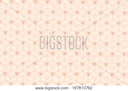 Hexagon Glossy Nude Color Cell Pattern Abstract Background