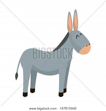 donkey animal christianity religion image vector illustration