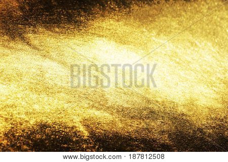 Gold Grunge Background Or Texture And Gradients Shadow