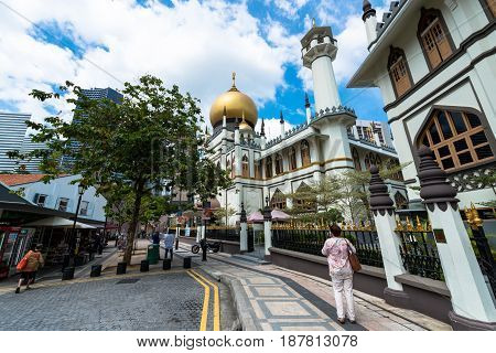 Photo of Masjid Sultan at Muscat Street in Kampong Glam district of Rochor Planning Area in Singapore