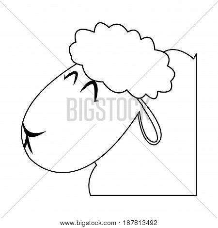 head lamb christmas  manger religion vector illustration