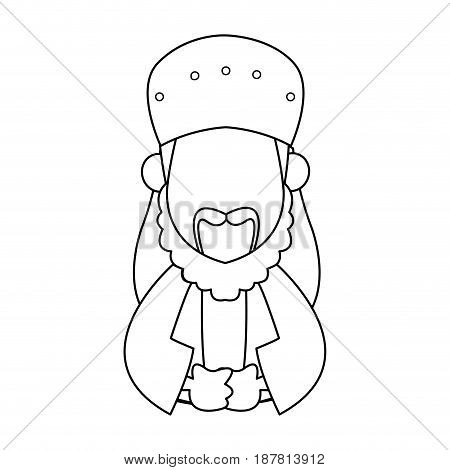 wise man kings bringing gifts to jesus vector illustration