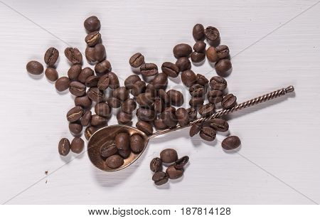 The Coffee Beans And Silver Spoon