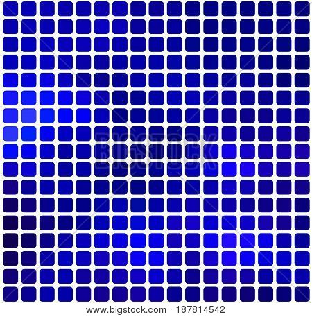 Dark Blue Rounded Mosaic Background Over White Square