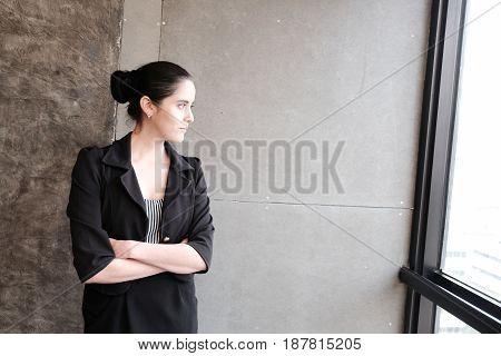 Businesswoman Cross One's Arm