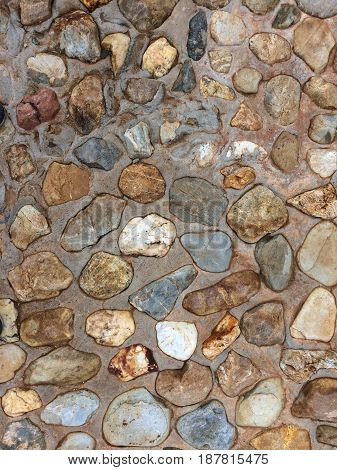 Gray stone floor background, in the garden