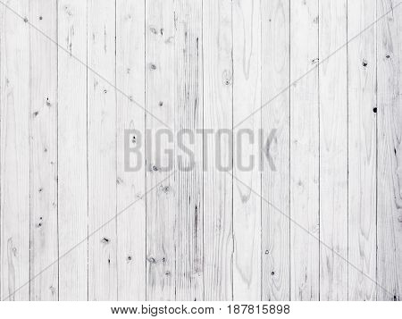 Old white wood wall texture and background.