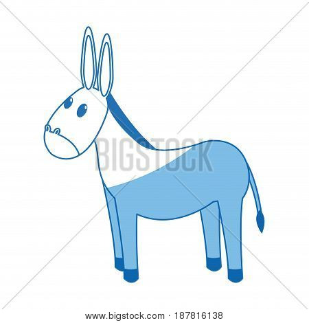donkey manger animal character christmas vector illustration