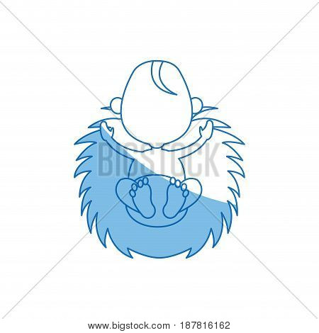 christmas baby jesus manger image vector illustration
