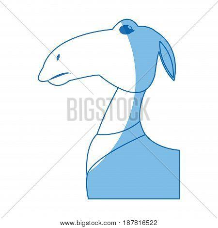 manger animal character christmas image vector illustration