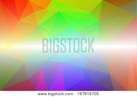 Light rainbow abstract low poly geometric background