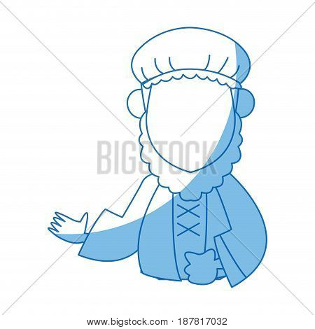 cartoon man of orient christian design vector illustration