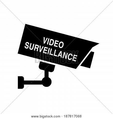 video surveillance icon security art illustration on white
