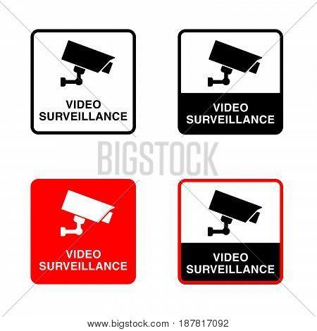 Video Surveillance Icon Set Illustration