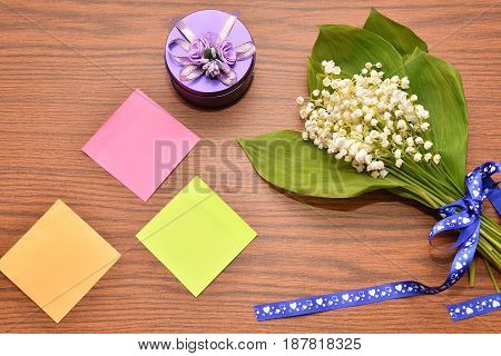 Flower Of The Valley And Paper For Notes