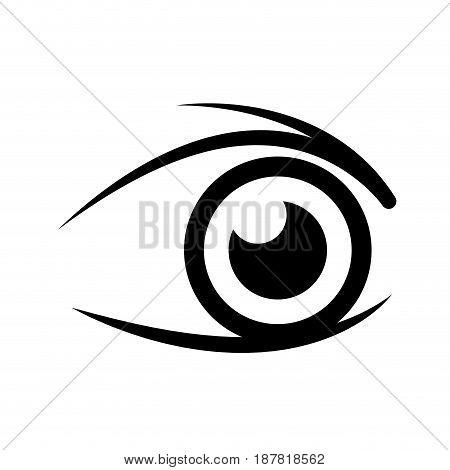 human eye optical eyeball symbol vector illustration