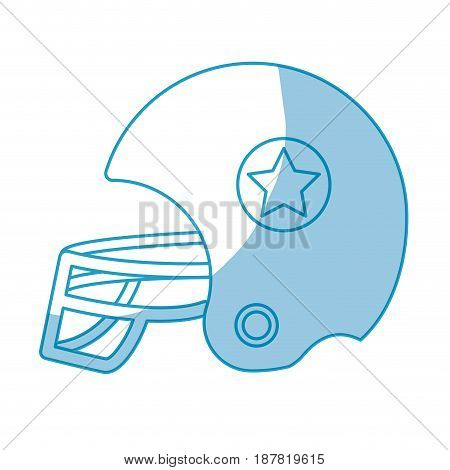 silhouette football helment to uniform to play sport, vector illustration