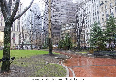 Post Office Square at Norman B. Leventhal Park in Boston - BOSTON - MASSACHUSETTS -  2017