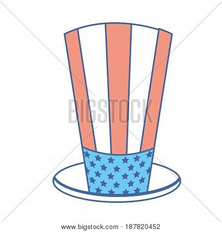 usa hat to patritism celebration design, vector illustration