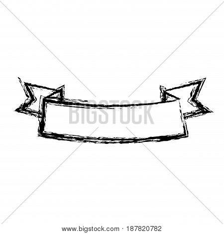 ribbon horizontal banner decoration event vector illustration