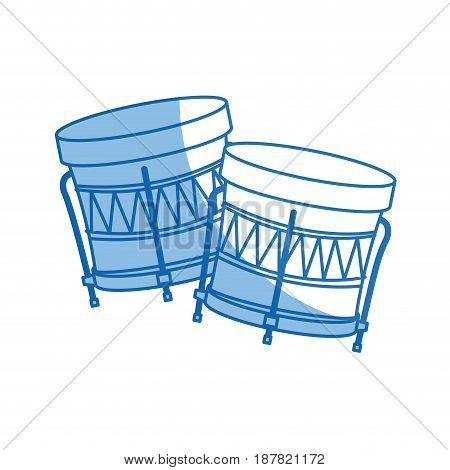brazilian samba batucada drum instrument music vector illustration