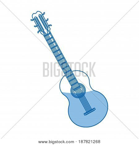 brazilian guitar music typical instrument image vector illustration