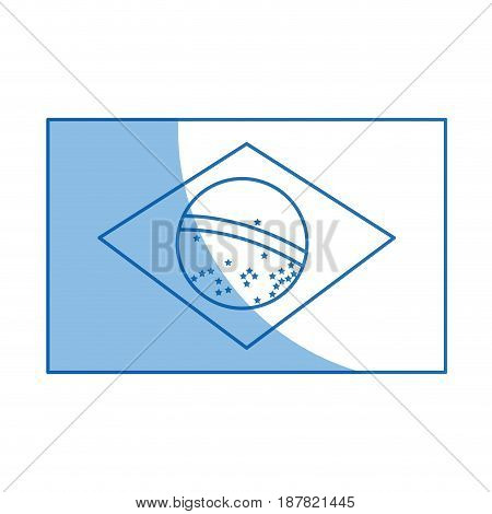 brazil national flag insignia nation image vector illustration
