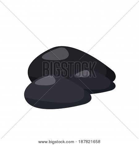 hot stone treatment massage thermo therapy vector illustration