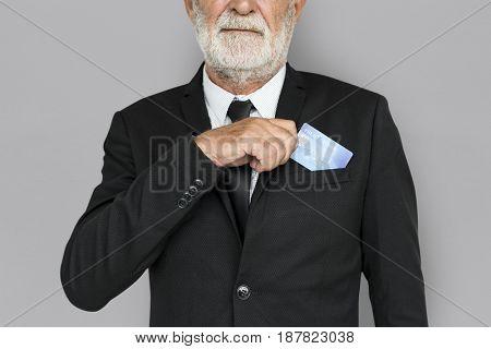 Business Man Credit Card Concept