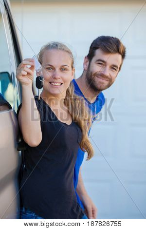 happy car van rental people
