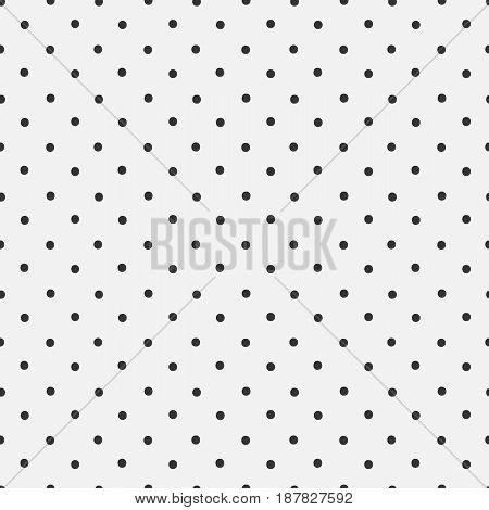 Dotted hand drawn elegant seamless pattern on gray background