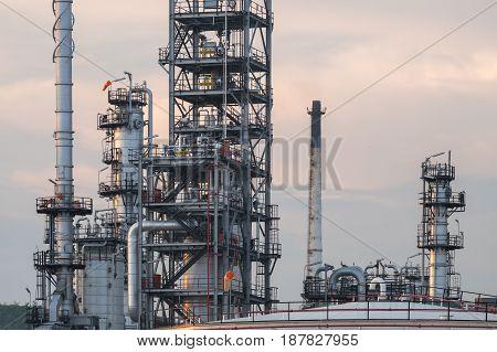 Oil Refinery Plant. Pipeline