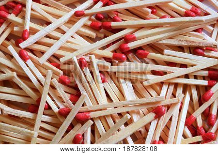 An abstract image of wooden match sticks.