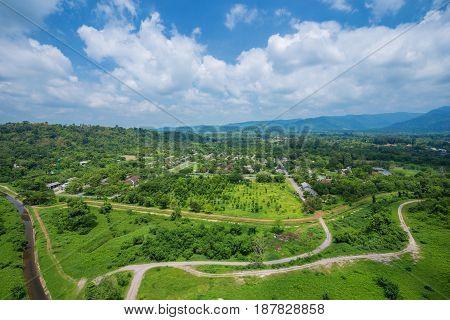 Landscape View From Khun Dan Prakarn Chon Dam In Nakhon Nayok, Thailand