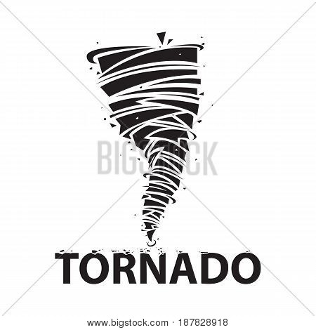 Tornado icon. Cyclone storm icon isolated on white background. Typhoon vector illustration