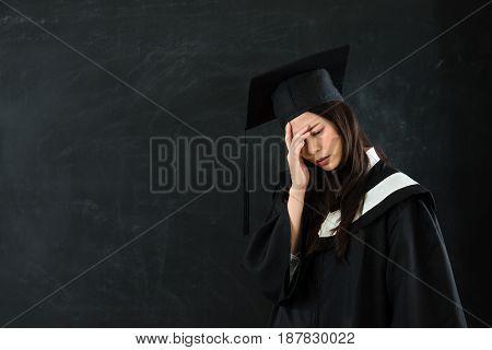 Graduate Student Feeling Head Painful