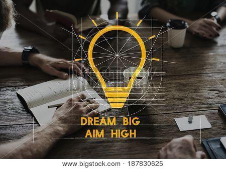 Creative Thinking Brainstorm Word Phrase
