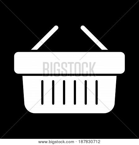 Online shopping vector icon. Black and white shopping cart illustration. Solid linear business icon. eps 10