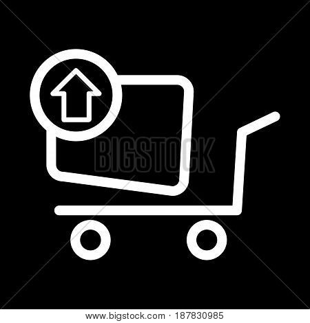 Remove from the shopping cart vector icon. Black and white shopping illustration. Outline linear icon. eps 10
