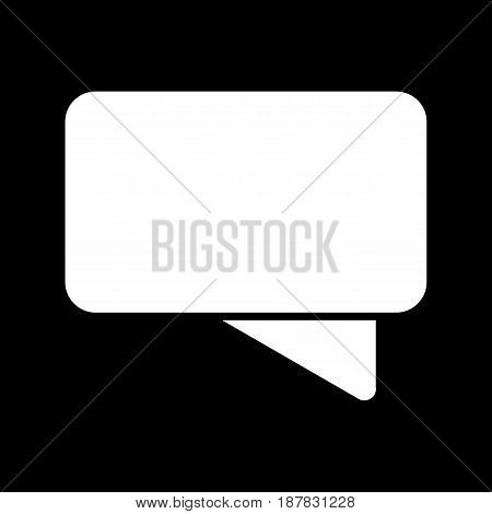 Chat vector icon. Black and white message illustration. Solid linear icon. eps 10