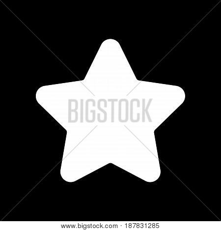 Star vector icon. Black and white favorite sign illustration. Solid linear icon. eps 10