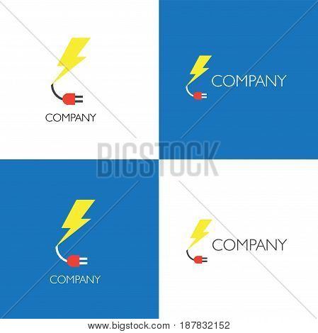 Vector eps logo design for electornic services or store company
