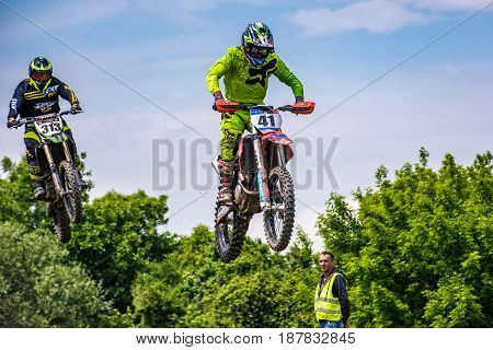 Extreme Enduro Moto Sport Bike Jumping