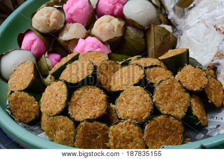 Sweet Cake At The Market In Bali, Indonesia