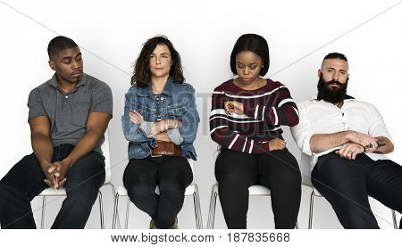 Waiting Diverse Ethnic Together Casual