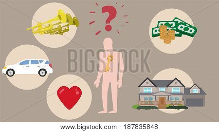 The Key to Happiness Concept Vector Image