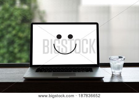 Happy And Greeting Concept Smiley Face Emoticon